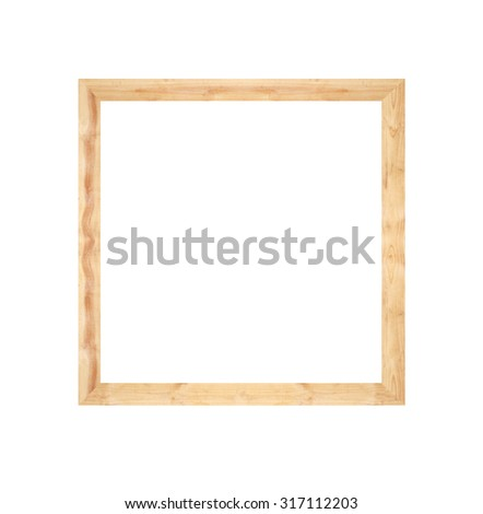 wooden pallet frame isolated on white background.
