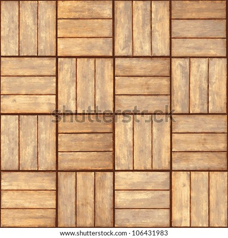 Wooden parquet floor - realistic seamless texture