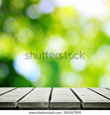 Wooden path in summer - stock photo