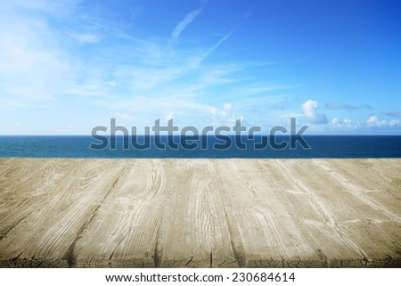 Wooden path on the beach - stock photo