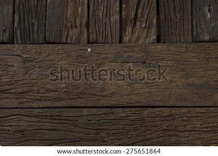Wooden Pattern, Wall - stock photo