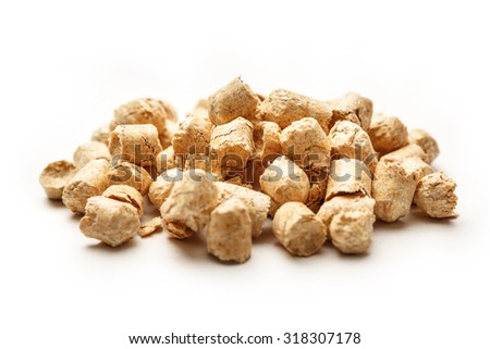 Wooden pellets for cat's toilet as background - stock photo