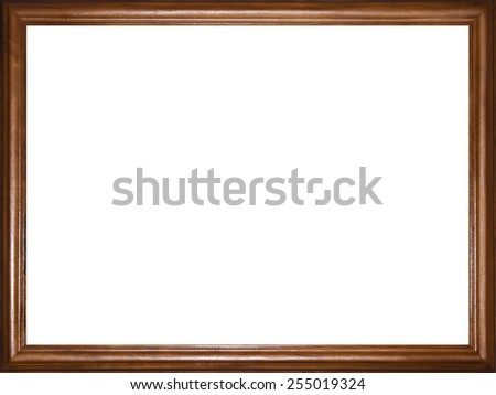 wooden photo frame as the background - stock photo