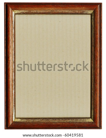 Wooden photo frame, redwood - stock photo