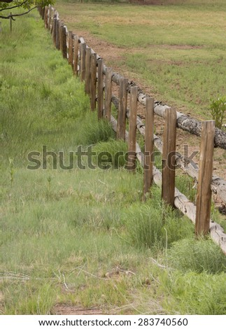 Wooden picket fence - stock photo