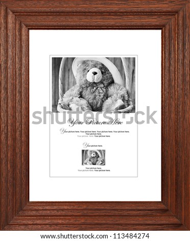Wooden picture frame - stock photo