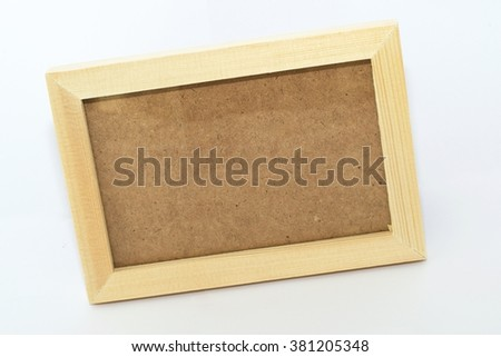 Wooden picture frame bevel