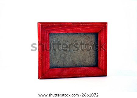 Wooden Picture Frame - Empty - stock photo