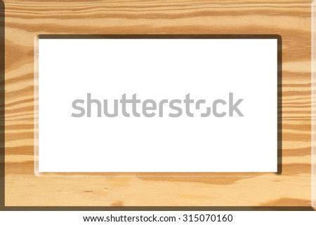 Wooden picture frame ,isolated on white background, with clipping path