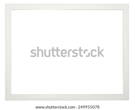 Wooden picture frame, with clipping path. - stock photo
