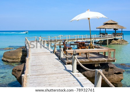 Wooden pier - stock photo
