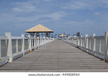 wooden pier by the sea
