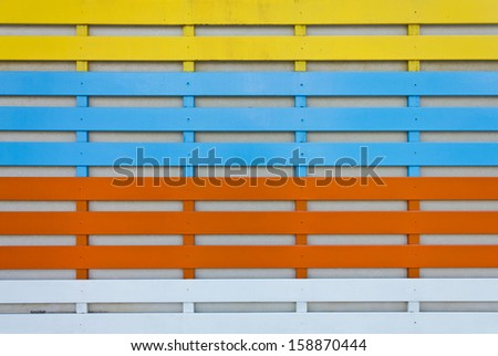 wooden plank from wooden house for background - stock photo