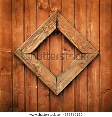 Wooden planks background with frame
