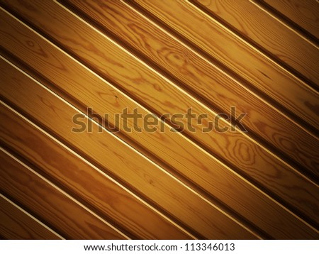 Wooden planks background with vignette