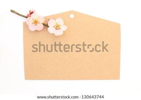 Wooden plaque - stock photo