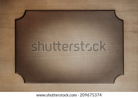 wooden plate, sign board, sign plate, tabloid - stock photo