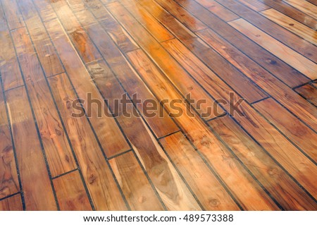 Wooden Polished Ship Deck (Salt Water Barrier)