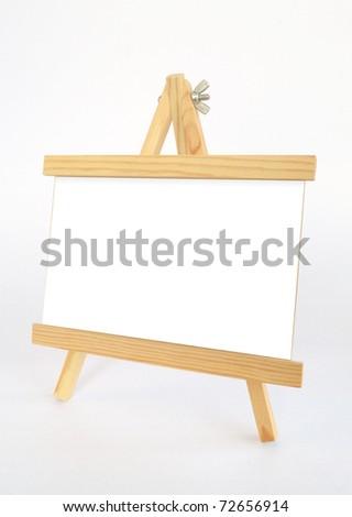 Wooden presentation easel - stock photo