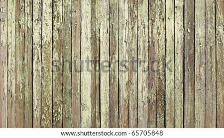 Wooden protection on all background, with traces of a green paint - stock photo