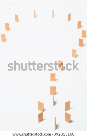 Wooden question mark. Abstract question mark. - stock photo