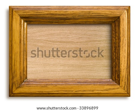 wooden rectangle frame with the blank background