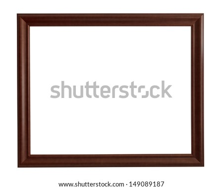 Wooden rectangle picture frame