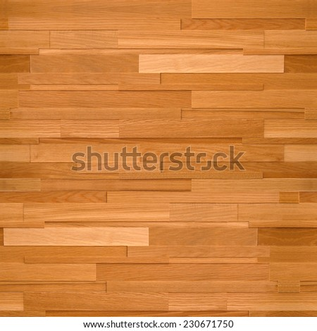 Wooden rectangular parquet stacked for seamless background. veneer alder - stock photo