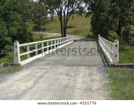 Wooden Road Bridge, New England, Australia - stock photo