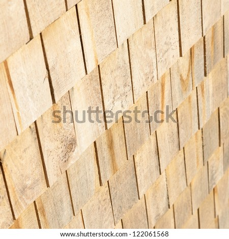 wooden roof plates close-up - stock photo
