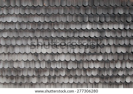 Wooden roof tiles texture - stock photo