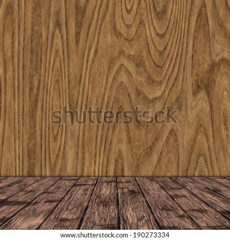 wooden room - stock photo