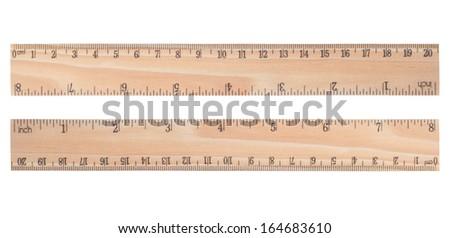 Wooden ruler - stock photo