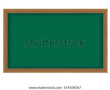 wooden school board for writing chalk illustration isolated on white background