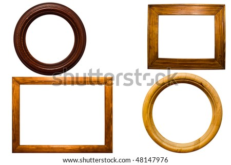 wooden scopes for your pictures - stock photo