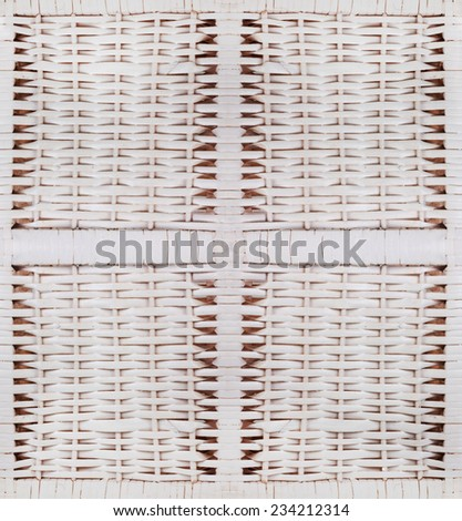 wooden seamless texture of rattan - stock photo