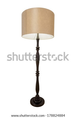 Wooden shades to decorate rooms. On a white background. - stock photo