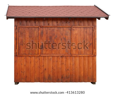 Wooden shed or log cabin