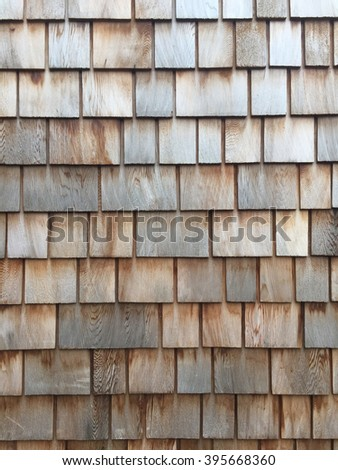 Wooden shingle background and texture