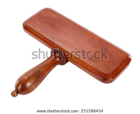 Wooden sign board bid paddle - stock photo