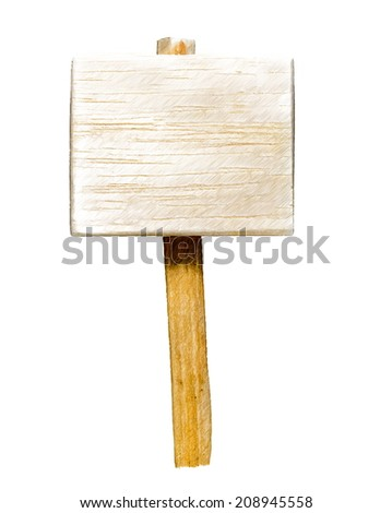 wooden sign isolated  -- illustration - stock photo