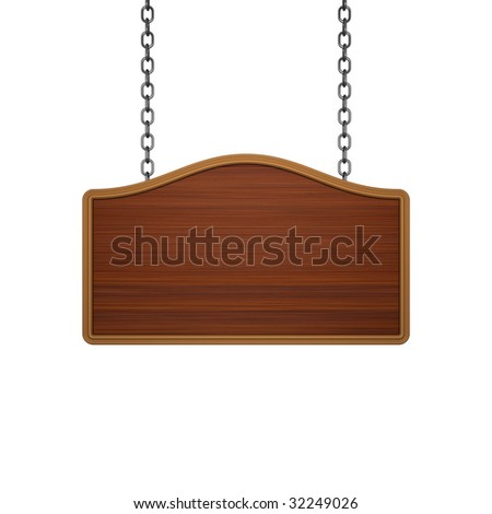 Wooden signboard - stock photo