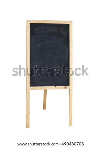 wooden signs of cafe isolated on white background and have clipping paths.