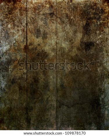 Wooden slat background with aged, distressed look - stock photo