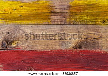 Wooden slats painted in retro style.