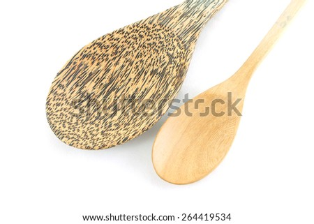 wooden spoon - stock photo