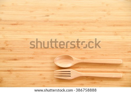 Dining Table Top View wooden spoon fork on wood texture stock photo 401553052 - shutterstock