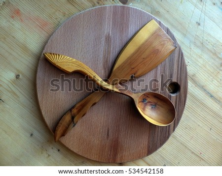 Russian National Tools Wooden Spoons