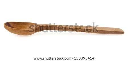 wooden spoon on a white background