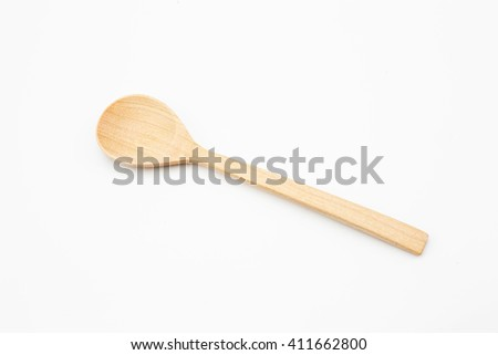 Wooden Spoon on white background